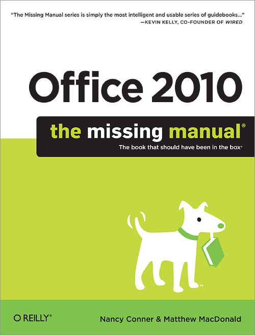 office 2010 the missing manual o reilly media rh shop oreilly com excel 2010 the missing manual Office Dental Office Manual