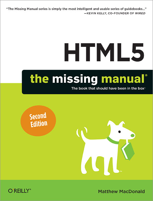Html5 The Missing Manual 2nd Edition O Reilly Media
