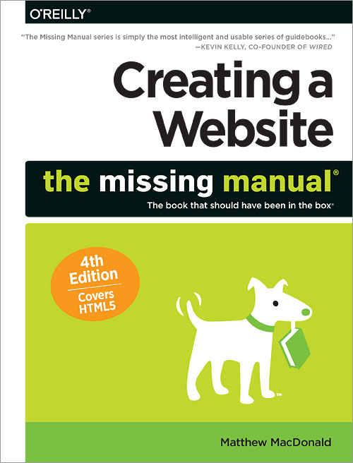 creating a website the missing manual 4th edition o reilly media