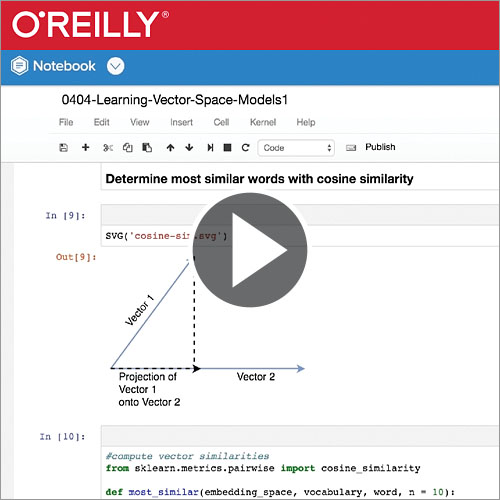 Learning Vector Space Models with SpaCy - O'Reilly Media
