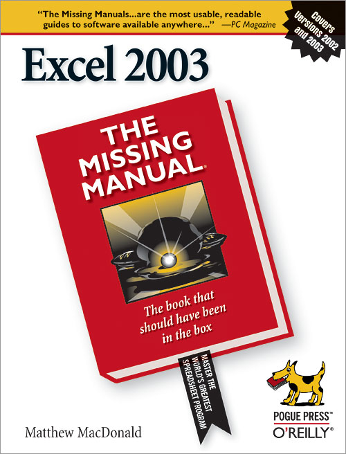 excel 2003 the missing manual o reilly media rh shop oreilly com Microsoft Excel Manual Excel Manual Espanol