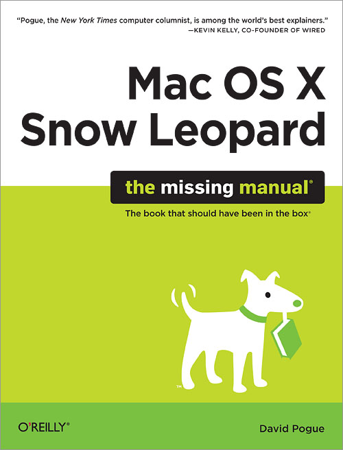 mac os x snow leopard the missing manual o reilly media rh shop oreilly com White Tiger Snow Baby Leopard