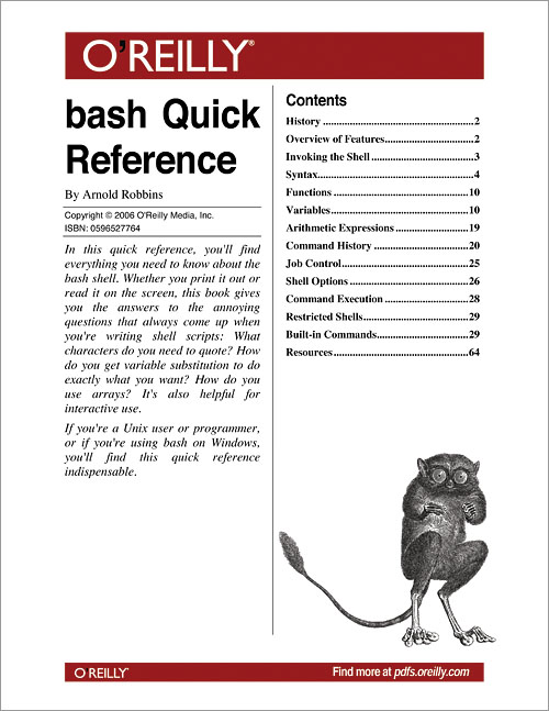 bash Quick Reference - O'Reilly Media