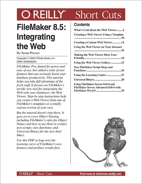 FileMaker 8 5: Integrating the Web - O'Reilly Media