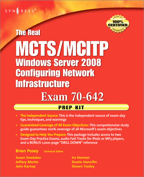The Real Mctsmcitp Exam 70 642 Prep Kit Oreilly Media