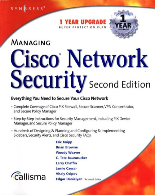 Managing Cisco Network Security, 2nd Edition - O'Reilly Media